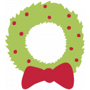 The Good Life- December 2019 Tags & Stickers- Wreath