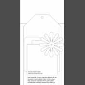 Travelers Notebook Layout Templates Kit #5- layout template 5b sketch