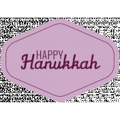 The Good Life- December 2019 Hanukkah Words & Labels- Label Happy Hanukkah 2