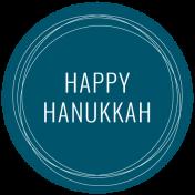 The Good Life- December 2019 Hanukkah Words & Labels- Label Happy Hanukkah
