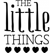 The Good Life: March 2020 Stamps Kit- the little things template