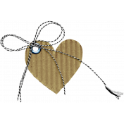 The Good Life: March 2020 Elements Kit - cardboard heart