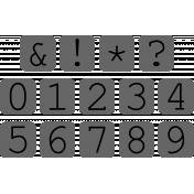 Alpha Template Kit #52 Numbers