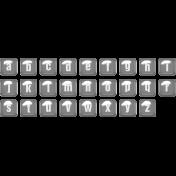 Alpha Template Kit #54- Alpha Template 54 lowercase