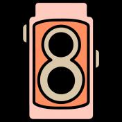 The Good Life - April 2020 Tags & Stickers - Print Sticker Camera 1B