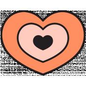 The Good Life - April 2020 Tags & Stickers - Print Sticker Heart 1B