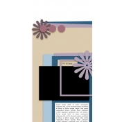 Travelers Notebook Layout Templates Kit #6- Template 6b