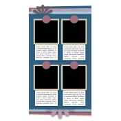Travelers Notebook Layout Templates Kit #6- Template 6d