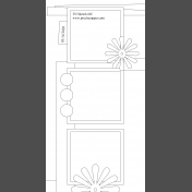 Travelers Notebook Layout Templates Kit #6- Sketch 6c