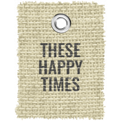 Burlap Word Tags Kit - these happy times