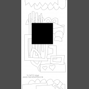 Travelers Notebook Layout Templates Kit #9- sketch 9a