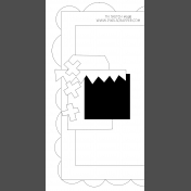 Travelers Notebook Layout Templates Kit #9- sketch 9b