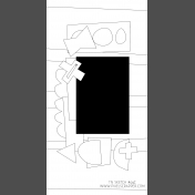 Travelers Notebook Layout Templates Kit #9- sketch 9c