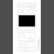 Travelers Notebook Layout Templates Kit #9- sketch 9d