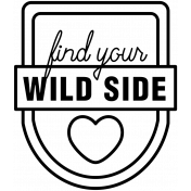 The Good Life: June 2020 Stamps Kit- badge find your wild side template