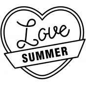 The Good Life: June 2020 Stamps Kit- badge love summer template