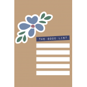 The Good Life- May 2020 Journal Me- Card 6 4x6