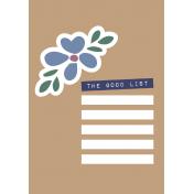 The Good Life- May 2020 Journal Me- Card 6 Passport