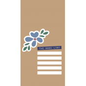 The Good Life - May 2020 Journal Me - Card 6 TN