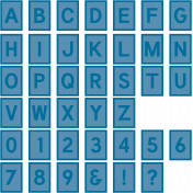 The Good Life: June 2020 Alphas Kit- Alpha 61 blue