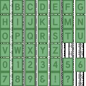 The Good Life: June 2020 Alphas Kit- Alpha 61 green
