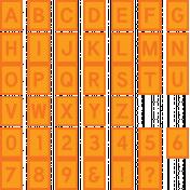 The Good Life: June 2020 Alphas Kit- Alpha 61 orange