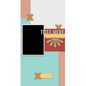 Travelers Notebook Layout Templates Kit #12- Layout Template 12