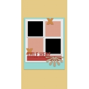 Travelers Notebook Layout Templates Kit #12- Layout Template 12A