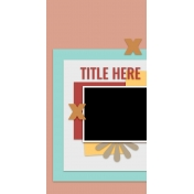 Travelers Notebook Layout Templates Kit #12- Layout Template 12B