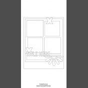 Travelers Notebook Layout Templates Kit #12- Sketch Template 12A
