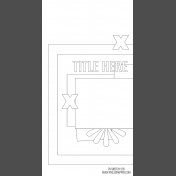 Travelers Notebook Layout Templates Kit #12- Sketch Template 12B