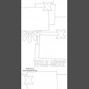 Travelers Notebook Layout Templates Kit #12- Sketch Template 12C