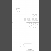 Travelers Notebook Layout Templates Kit #12- Sketch Template 12D