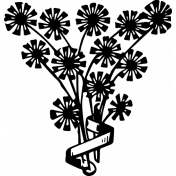 Vintage Images Kit- Samhain Stamps- flowers 1 template