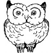 Vintage Images Kit- Samhain Stamps- owl template