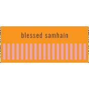 The Good Life- October 2020 Samhain Mini Kit- label blessed samhain 2