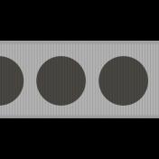 Fat Ribbon Template- Polka Dots 01