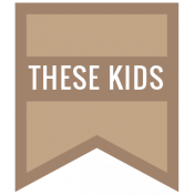 The Good Life: November 2020 Labels Kit- these kids