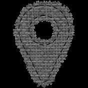 Templates Grab Bag #34- Burlap Mat Geotag Template