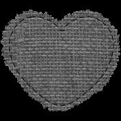 Templates Grab Bag #34- Burlap Mat Heart Template