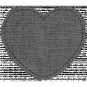 Templates Grab Bag #34- Medium Burlap Mat Heart Template