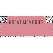 The Good Life- December 2020 Labels- Label Great Memories