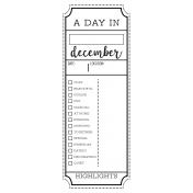 The Good Life- December 2020 Christmas B&W Journal Me- JM 03 3x8