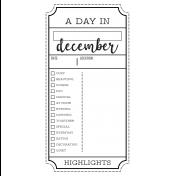 The Good Life- December 2020 Christmas B&W Journal Me- JM 03 TN