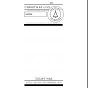 The Good Life- December 2020 Christmas B&W Journal Me- JM 05 TN