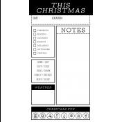 The Good Life- December 2020 Christmas B&W Journal Me- JM 07 TN