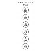 The Good Life- December 2020 Christmas B&W Journal Me- JM 08 3x8