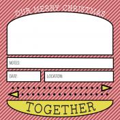 The Good Life: December 2020 Christmas Pocket Cards Kit- Journal Card 2 4x4