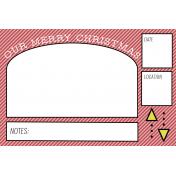 The Good Life: December 2020 Christmas Pocket Cards Kit- Journal Card 2 4x6