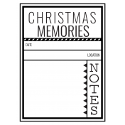 The Good Life- December 2020 Christmas B&W Pocket Cards- JC 01 3x4